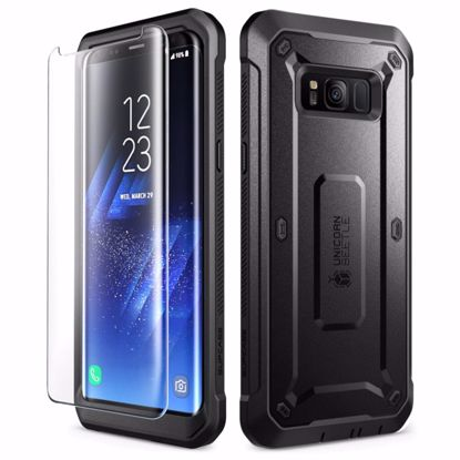 Picture of i-Blason i-Blason SUPCASE Unicorn Beetle Pro Case and Screen Protector for Samsung Galaxy S8+ in Black