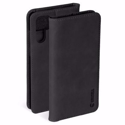 Picture of Krusell Krusell Sunne 2 Card Folio Wallet Case for Huawei P30 Pro in Black