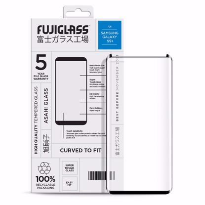 Picture of Fuji Fuji Curved-to-fit Screen Protector for Samsung Galaxy S9+ in Clear/Black